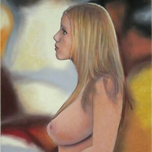 Female Nude Study #4735 Pastel Painting