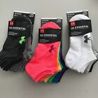 Under Armour Essential Training No Show Ankle Liner Socks (6 Pairs) Women's MD