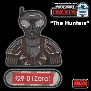 "Star Wars DROIDS ""Mandalorian"" Q9-0 [Zero] Bounty Hunter embroidered patch set"