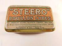 Vtg Steero Schieffelin & Co. New York Bouillon Cubes Metal Tin - FREE SHIPPING