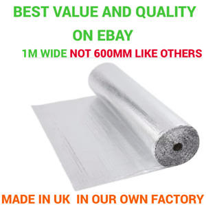 Shed insulation - Single Foil Bubble Insulation with tape option *free postage*