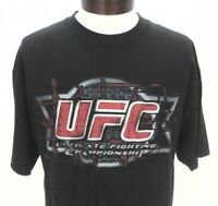 UFC Ultimate Fighting Championship MMA Men's Black T-Shirt Large L EUC