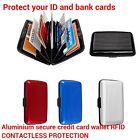 Aluminium Métal RFID Porte-feuille boîte sans contact protection carte de crédit