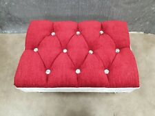 Foot Rest Pouffe Stool QueenAnne Legs British red &white