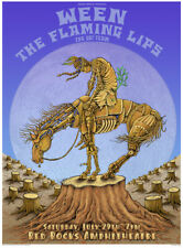 EMEK mini Art Poster Print Ween Flaming Lips Red Rocks La Cucaracha