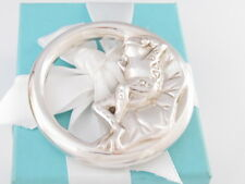 TIFFANY & CO SILVER FROG BEE BABY  RATTLE BOX POUCH PACKAGING
