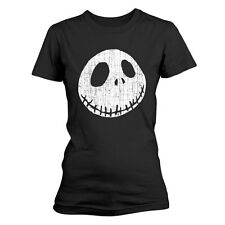 Nightmare before Christmas Ladies T-Shirt Cracked Face Size M PhD merchandise