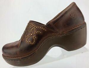 Ariat Clogs Strathmore Brown Nursing Professional Working Shoes Womens 8.5 B