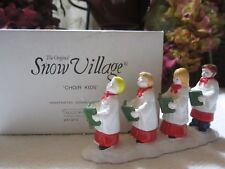 CHOIR KIDS #51470 DEPT 56 RETIRED SNOW VILLAGE  GREAT ACCESSORY FOR CHURCHES