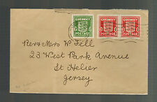 1943 Guernsey England Channel Islands Occupation Cover toSt Helier  jersey