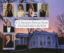 Grenada 2017 MNH US President Donald Trump Melania Ivanka 6v M/S II Stamps