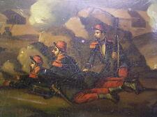 Stobwasser-Boite/TABATIERE 1870/71: peinte à la main: soldats: Allemand-Franz. Guerre