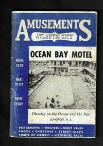 1950's Atlantic City,NJ Amusements Booklet