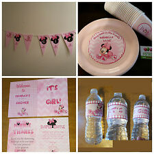 Minnie Mouse baby shower supplies set of 48