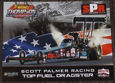 2016 Scott Palmer Tommy Thompson Motorsports Top Fuel Nhra postcard