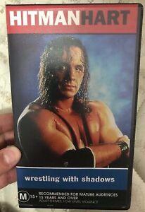 Bret Hitman Hart - Wrestling With Shadows VHS TAPE (1998 documentary) WWF WWE