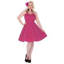 Regular Size Cotton Blend Geometric Dresses for Women
