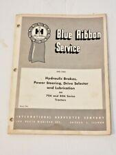 IH Blue Ribbon Service GSS-1343 Hydraulic Breaks System 706-806 TRACTORS