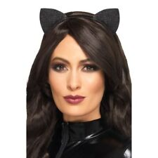 WOMEN/'S ADULT VELVET Luccicante orecchie da gatto Fancy Dress Up Festa in Costume Accessorio