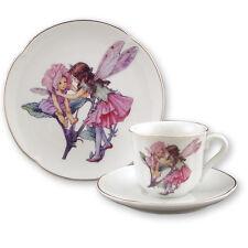 Reutter Children's Porcelain Tea Cup & Saucer and Plate Set SWEET PEA FAIRY