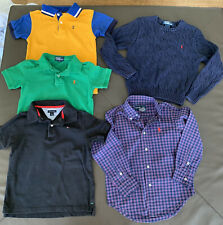 Lot 5 Boys Shirts Sweater Ralph Lauren Tommy Hilfiger Chaps Size 5/6