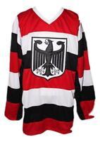 Custom Name # Germany Retro Hockey Jersey New White Any Size