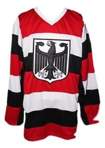 Any Name Number Size Germany Retro Hockey Jersey White