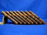 TURKISH SPY LETTERS 1770 Rare Books LEATHER SET 8 vols ANTIQUE Ottoman Empire