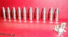"200 x Bullet Nickel Plate  SPIKE STUDS. 1"" / 25M Leather BIKER BOOTS BELT JACKET"