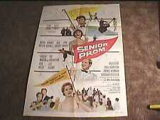 SENIOR PROM 1958 ORIG MOVIE POSTER HAPPY DAYS DANCE