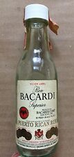 Vintage 1970's Bacardi 'Puerto Rican Rum' 50ml Mini Glass Bottle Spirits