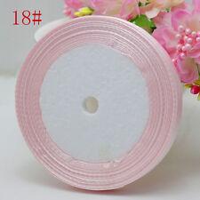 "Free Shipping wedding festival 25 Yards 3/8"" 10mm Craft Bows Satin Ribbon pink"