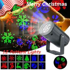 LED Christmas Projector Light Laser Xmas Move Fairy Lamps Home Landscape Decor A