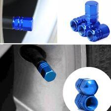 Car Tire Valves Decorate Covers Trim Auto Accessories Blue Aluminium 4PCS/SET