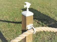 Sea Turtle Nautical Rope Fence Holders, Fence Rope Rings, Beach Theme