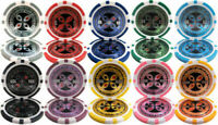 Ultimate 14g Clay Poker Chips Sample Set New - 10 Denominations