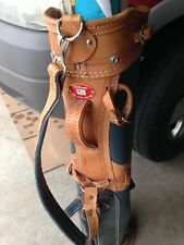 """1950s/1960s Wilson """"Staff model Golf Bags"""" Collectible Leather Trimmed Golf Bag"""