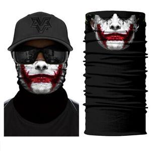 Joker Face Sun Scarf Neck Gaiter Balaclava Neck Gaiter Bandana Headwear Headband