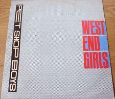 Pet Shop Boys - West End Girls Vinyl Record UK 1985 Parlophone