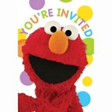 Sesame Street Birthday Party Invitations Invites Supplies X 8