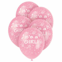 Its a Girl latex balloons Pink colour Baby shower Balloons christening balloons