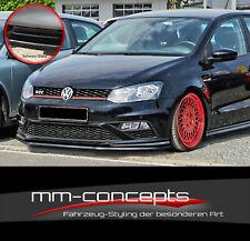 CUP Spoilerlippe SCHWARZ für VW Polo V 5 GTI 6C Frontspoiler Spoilerschwert INE