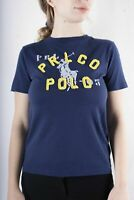 Polo Ralph Lauren Women`s Navy Blue Crew Neck Cotton T-Shirt Size S