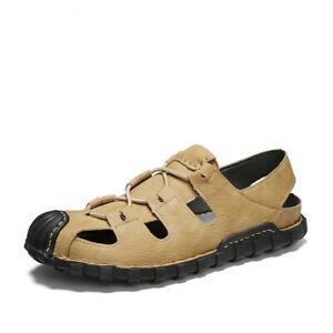 Roman Mens Flats Slingbacks Sandals Shoes Closed Toe Non-slip Outdoor Walking Sz