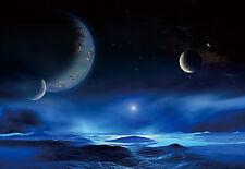 "CHOIS WM9027 Space Wall Mural Planets Satellite Star Lake wallpaper 100"" x 145"""
