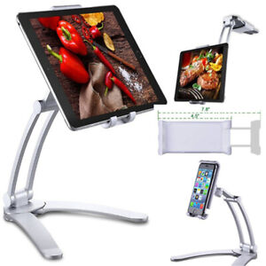 Multifunction Kitchen Fold Wall Mount iPad Tablets Phone Stand Holder Bracket UK