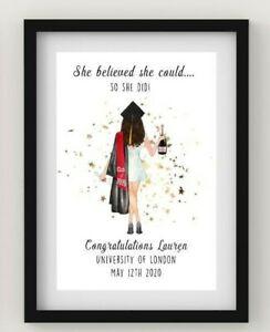 Personalised Graduation School Print End of Term Picture Daughter Keepsake Gift