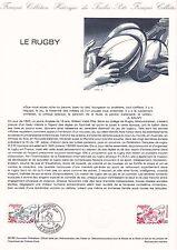 Document Philatélique Timbre 1er Jour : 09/10/ 1982 - Le Rugby