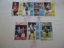 More details for wycombe wanderers 1993-1998 programmes x 7 (3 with with tickets) - vg condition
