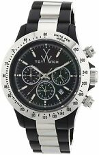 Toy Watch Heavy Metal Plasteramic Silver Black Chronograph Unisex watch 11207-SL